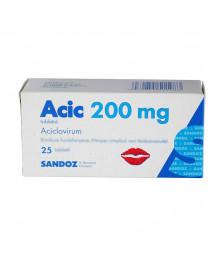 ACIC 200 mg Aciclovir Tablets, N25